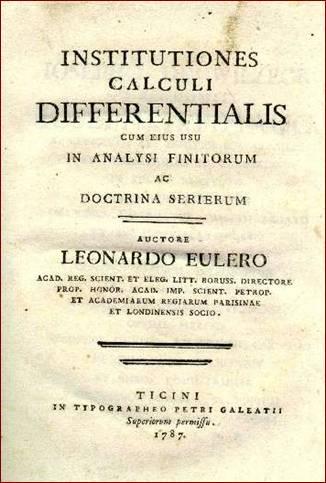 Tác phẩm: Institutiones calcul differentialis (1755)-Euler